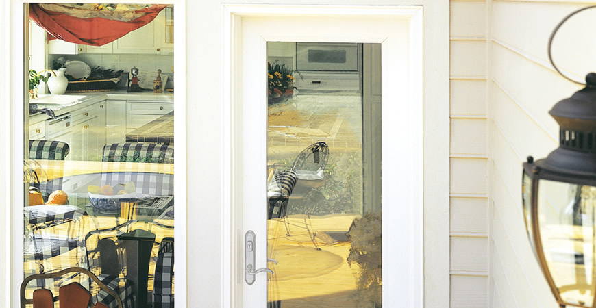 Swing hinged and french doors rmk windows for Single swing french doors